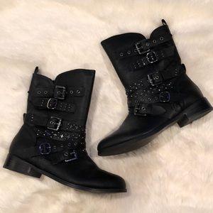 NWT Torrid Black Combat/Moro Buckle Boots size 9